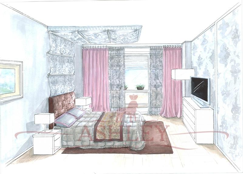 Дизайн штор в схемах
