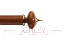 Alton-Cherry-Gilt Byron & Byron Classic Wood  Curtain Poles 55-67 Декоративные карнизы Англия