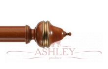 Clandon-Cherrywood-and-Details Byron & Byron Classic Wood  Curtain Poles 55-67 Декоративные карнизы Англия