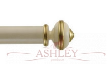Hardwick-Antique-Cream Byron & Byron Classic Wood  Curtain Poles 55-67 Декоративные карнизы Англия