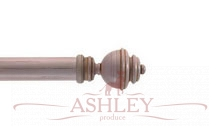 Aercolanium-Pink-Scratched Byron & Byron Classic Wood Curtain Poles 33-43 Декоративные карнизы Англия