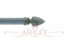 Athena-Poweder-Blue-Scratched Byron & Byron Classic Wood Curtain Poles 33-43 Декоративные карнизы Англия