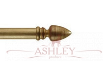 Athena-Red-Deistressed-Gilt Byron & Byron Classic Wood Curtain Poles 33-43 Декоративные карнизы Англия