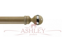 Globe-Pale-Ash Byron & Byron Classic Wood Curtain Poles 33-43 Декоративные карнизы Англия