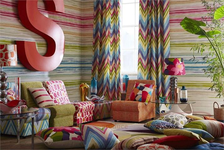 Contemporary curtain fabric