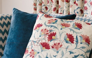 Ottoman Flowers FB Cushion Focua Ткани Sanderson Sojourn - Prints & Embroideries Ткани для штор Англия